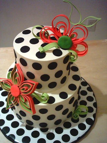 poka dot cake