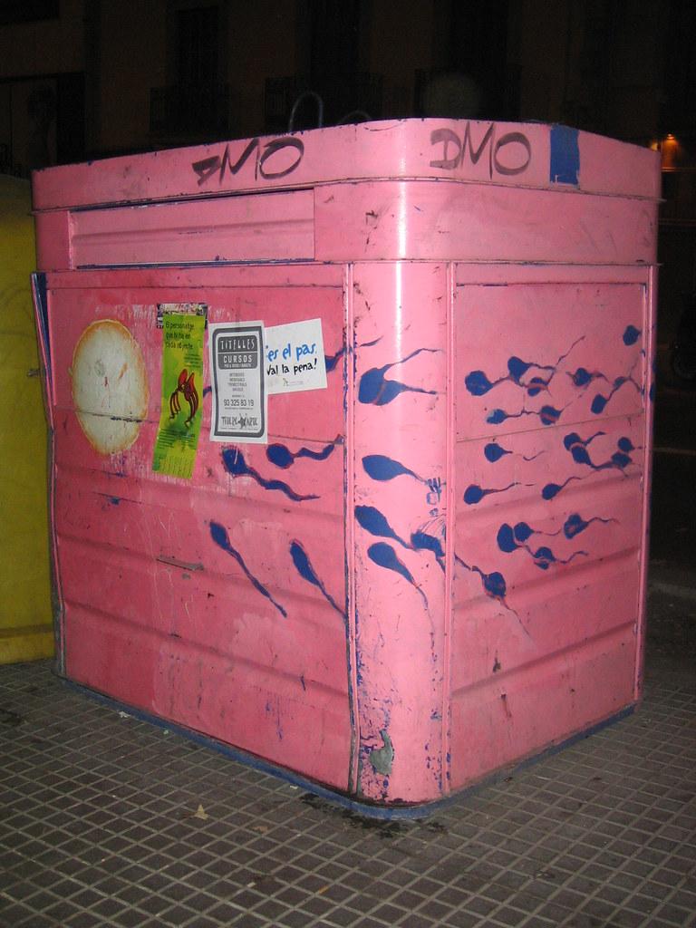 contenedor de papel pintado con óvulo y espermatozoides