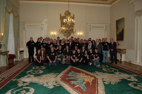 Camara at the presidents residence