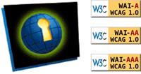 logos indicativos de sites acessíveis