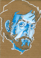 self-portrait #06 guache on cardboard 5 x 7 copy