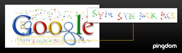 Google new year logo