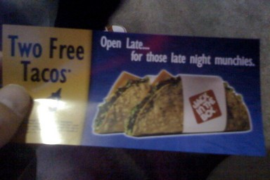 free taco excitement