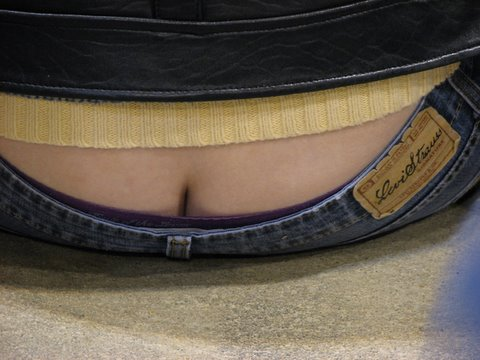 ad for Levi Strauss...taken at the convention