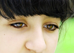 (Hazel Eyes ) Tags: portrait green eye girl beauty eyes farm fringe spot hazel cousin kohl reem