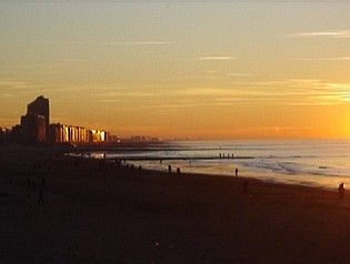 sunset over Ostend