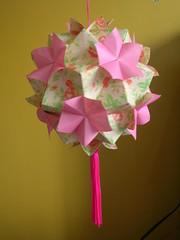 Spring (kusudama) Tags: spring origami arabesque tsuru kusudama