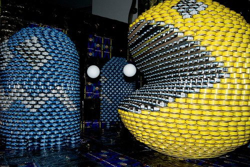 Giant Pac-Man Art Sculpture
