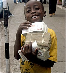 Buying a loaf of bread in Zimbabwe :)
