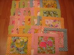 Pastel Floral Parade Quilt blocks (Kaffe Fassett pattern)