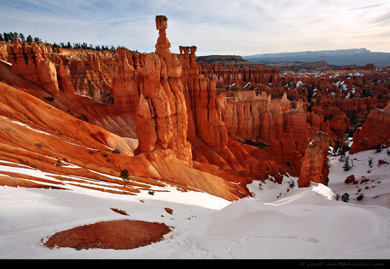 bryce canyon thorshammer hoodoos snow utah usnationalpark southwest photofool