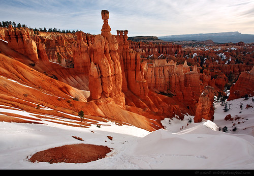 bryce-canyon thors-hammer hoodoos snow utah us-national-park