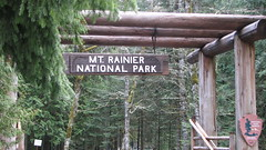 Rainer Sign (Great Beyond) Tags: road park county trip trees snow signs cold sign forest canon geotagged outdoors is washington nationalpark spring highway paradise power shot pacific northwest nps 7 roadtrip powershot mount national mountrainier rainier mountrainiernationalpark pacificnorthwest wa pierce wilderness washingtonstate nationalparks s3 range cascade geotag oldsign backwoods tahoma cascaderange wilds oldsigns highway7 longmire rainiernationalpark piercecounty canons3is powershots3 roughcountry paradisewashington