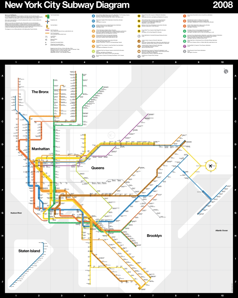 New York City Subway Diagram 2008