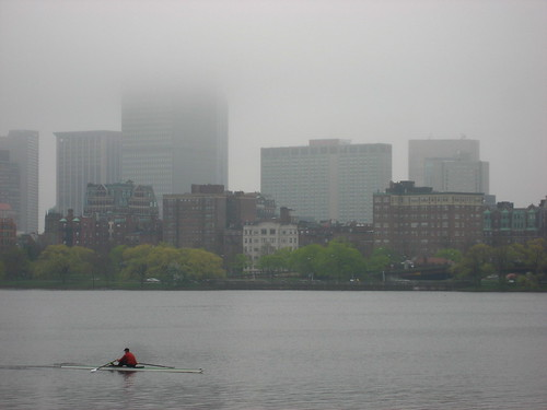 Boston in fog