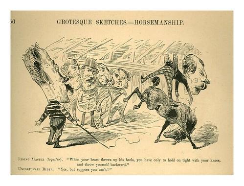 page56-Bocetos grotescos de equitación