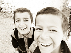 Laughing Afghani kids