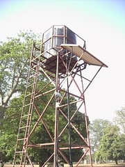 Tower with solar panel - June 2008