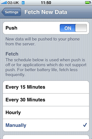iPhone 2.0 screenshot: Push settings by sbisson.