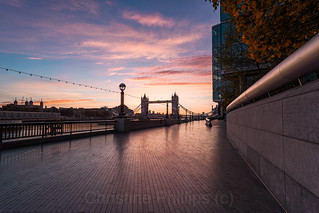 Sunrise over Tower Bridge on an Autumn Morning