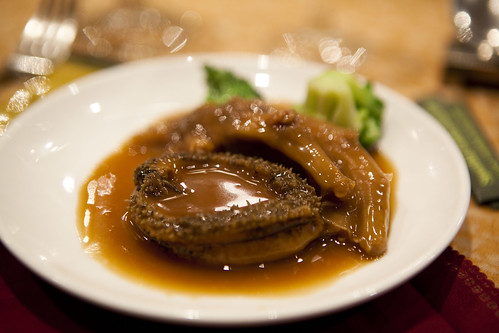 Braised abalone and chicken feet