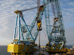 S7000 Cranes (thulobaba) Tags: construction crane offshore engineering gas rig oil barge frigg 7000 saipem