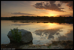 sunset on the pond (Justin Smith - Photography) Tags: sunset nikond50 bostonma justinsmith spypond nikon1735mmf28 leegndfilters eastarlingtonma