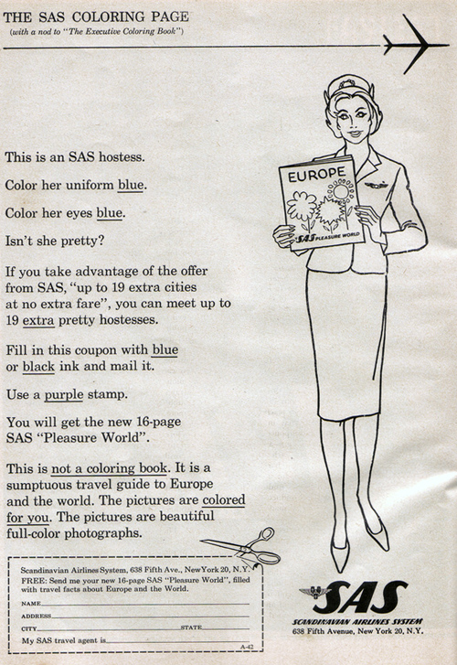 Vintage Ad #905: The SAS Coloring Page