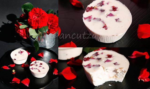 foto Panna cotta alle rose, latte di cocco e timo limone