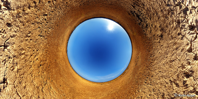 Salt Pan Stereographic Panorama
