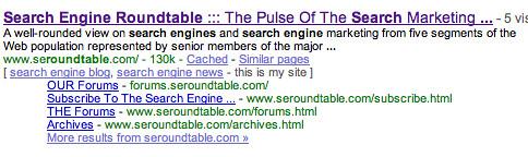 Google Sitelinks 4
