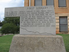 First Library - First Carnege Library in Oklahoma