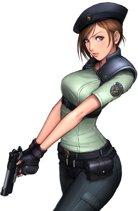 Ojala que haga aparición la protagonista Jill Valentine (arriba) y ...