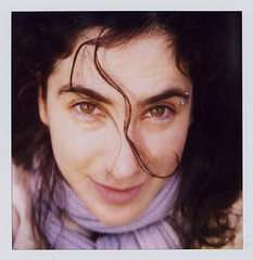 there once was a girl... (flybutter) Tags: selfportrait film polaroid autoportrait stormking crazyeyes slr680 lxs sculpturepark 779 flybutter mininerdout