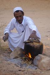 tea time (atsjebosma) Tags: man water fire desert tea sweet wadirum sugar arabic jordan kettle teatime boiling zoet ketel blueribbonwinner abigfave aplusphoto