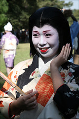 Y U K A K O : Jidai Matsuri (mboogiedown) Tags: travel woman fall girl beauty smile festival japan asian japanese october kyoto asia traditional culture maiko geiko geisha kimono gion tradition kansai matsuri ages jidai yukako oshiroi kobu discoverkyoto