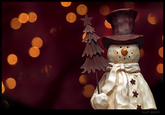 Snowmen fall from Heaven unassembled (VickerMonkee) Tags: christmas winter holiday snow tree home lights snowman december decoration explore tophat tamron 90mm tamron90 interestingness82 christmas2007 flickrsbest tamronspaf90mmf28dimacro redbubble anawesomeshot betterthangood on1232007 vickermonkee
