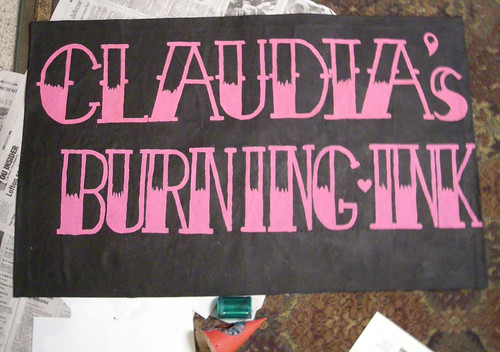 Claudia's Burning Ink Banner