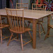Curly Maple and Cherry Dining Table with Cherry Birdcage Windsor Chairs
