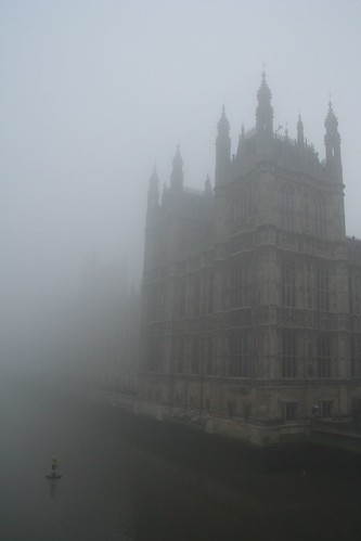 London - Westminster in the fog 3