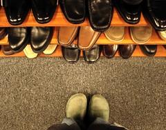 standing there standing back (zen) Tags: usa feet carpet shoes asheville north northcarolina dirty clean carolina shelves 103 standingthere shoestore 10up3 zensutherland 20070310 googleavl