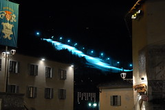 La pista dei mondiali in blu / World Championship ski slope in blue (Luigi Rosa) Tags: blue italy mountain italia blu montagna lombardia slope sci valtellina bormio psta