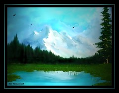 Cool Blue (xsphotos) Tags: lake mountains art forest painting soe coolblue xsphotos theunforgettablepictures