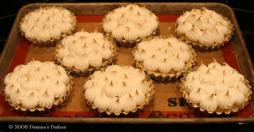 Daring Bakers Challenge January 2008: Lemon Meringue Pie: Meringue Baked