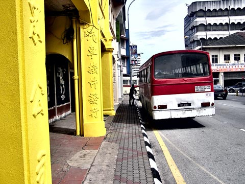 Catching a bus in Ipoh