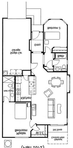 Rental Floor plan desert foothills villas.