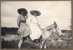 Vintage: Girls on a Donkey