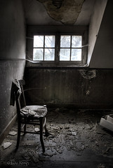 The melancholy hours (moggierocket) Tags: light wallpaper abandoned window trash chair bravo poetry shadows rainy mystical mansion melancholy cobwebs tristesse bedsit fallingapart notbw firstquality artlibre impressedbeauty hourofthediamondlight stealingshadows 2bdasest hourofthesoul