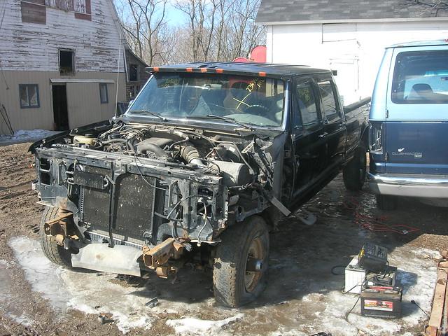 ford diesel body f350 wreaked
