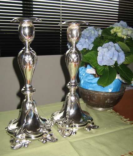 Bubbe's candlesticks restored